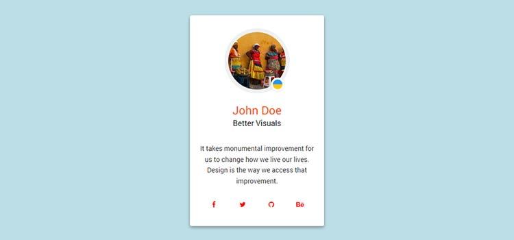 Material Design: Profile Card