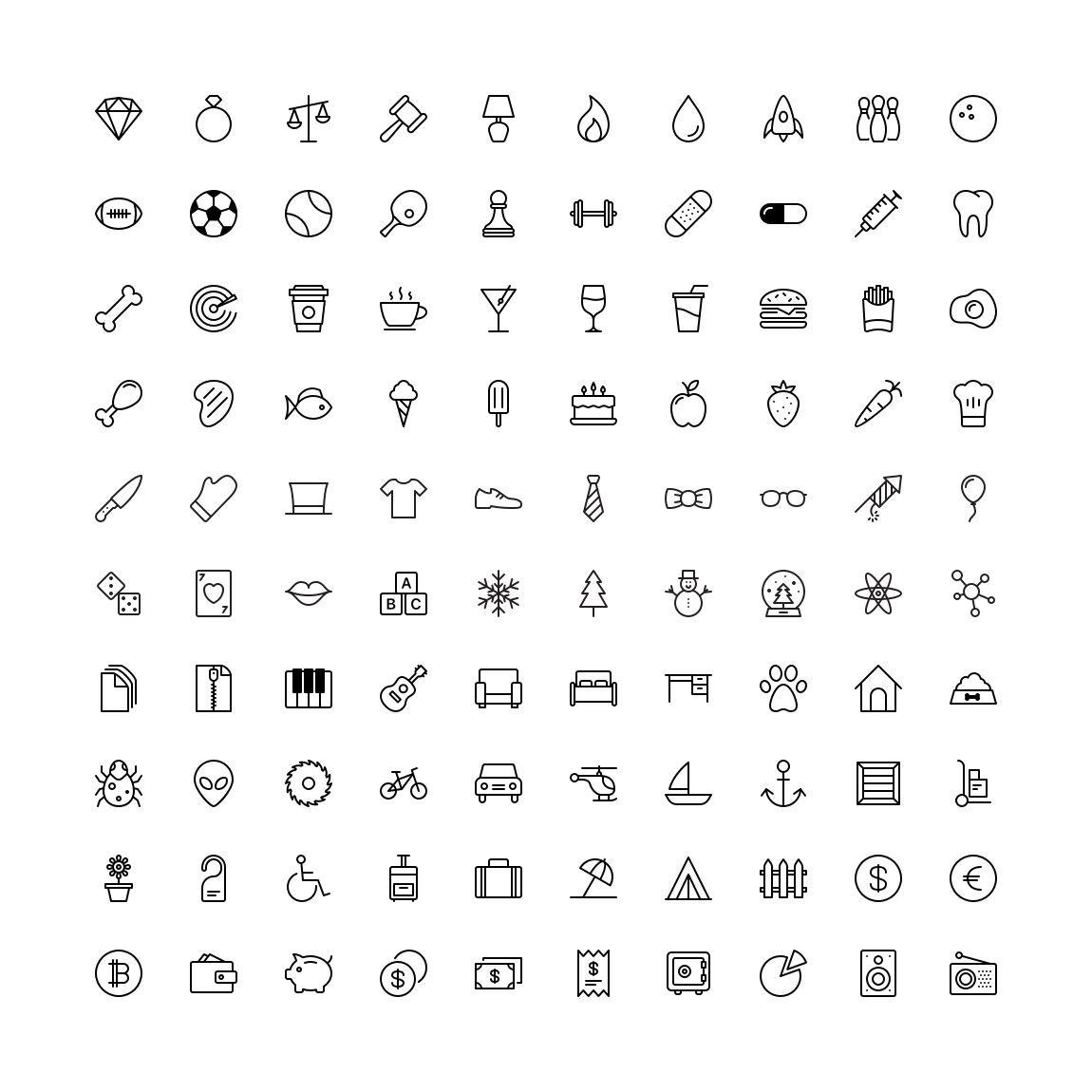 Free Funkies Flat outline Icon Set png svg illustrator