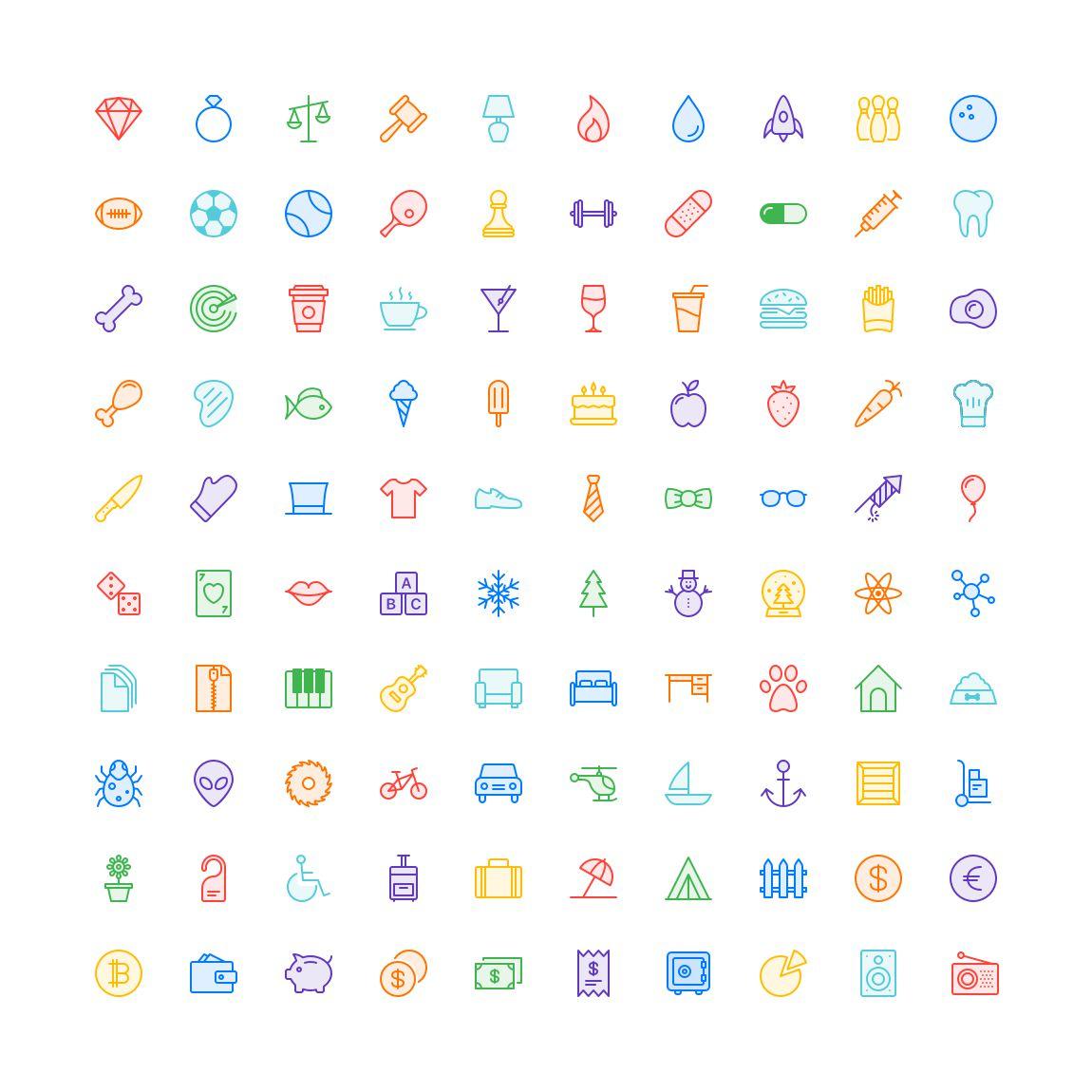 Free Funkies Subtle Color Icon Set png svg illustrator