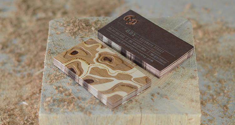 Duplexed Wood Veneer with Letterpressed Metallic Ink