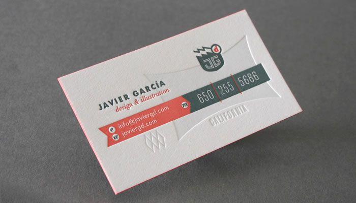 Letterpressed Business Card