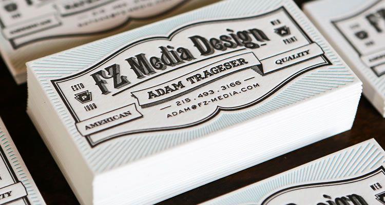 FZ Media Letterpress Cards