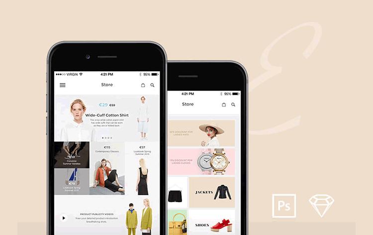 Elegance iOS UI Kit 12 Screens PSD & Sketch Formats Fatih Sinan