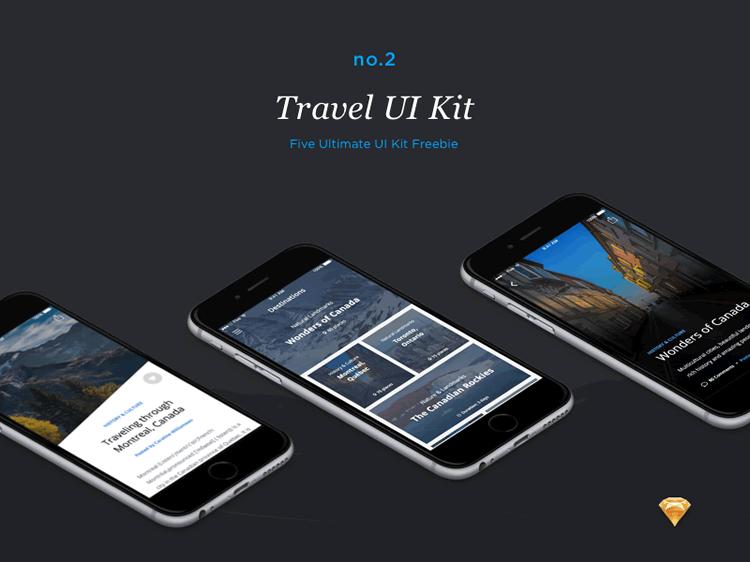 Travel UI Kit 50 Screens Sketch Format Ena Bacanovic