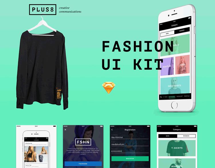 Mobile Fashion & eCommerce UI Kit 20 Screens Sketch Format Max Klimchuk