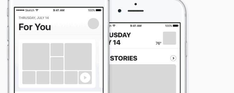 iOS 10 Music & News UI Kit