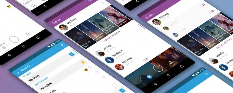 Snapchat Free UI Kit Sketch