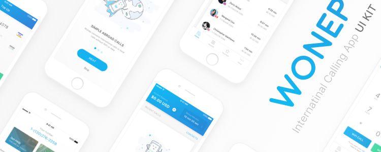 Wonep International Calling App UI Kit