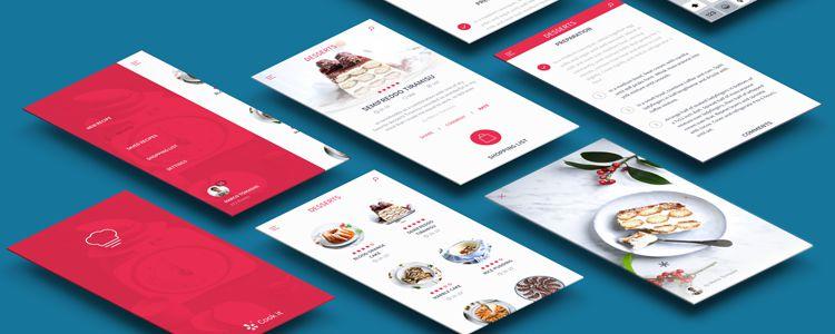 Free Recipes App UI Kit Sketch