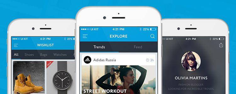 Trend Free UI KIT Photoshop