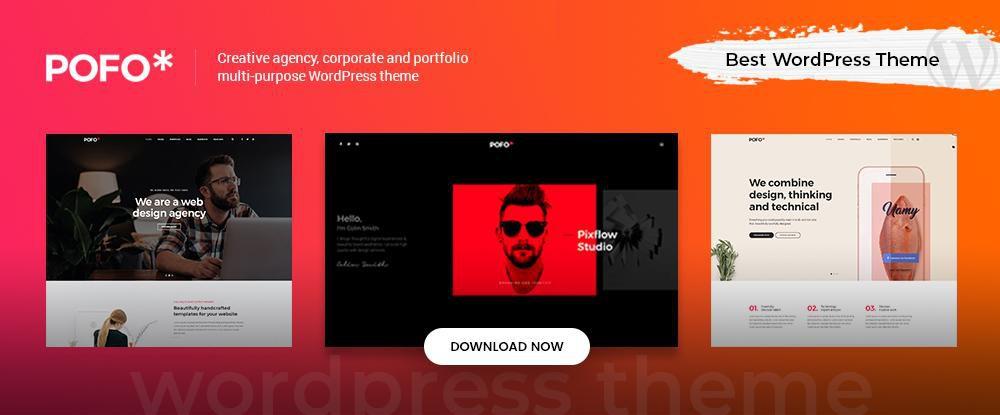 Pofo - Creative Portfolio, Blog and eCommerce WordPress Theme