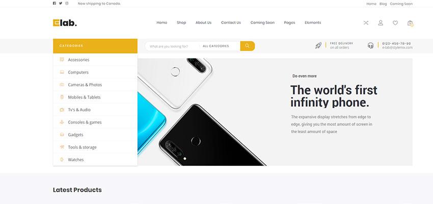 eLab Home Page