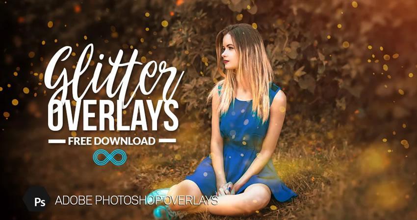 Golden Glitter Overlay Photography Effects