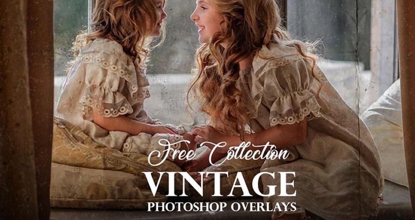 Vintage Photoshop Overlays Photography Effects