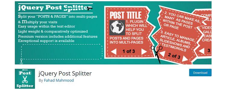 jQuery Post Splitter