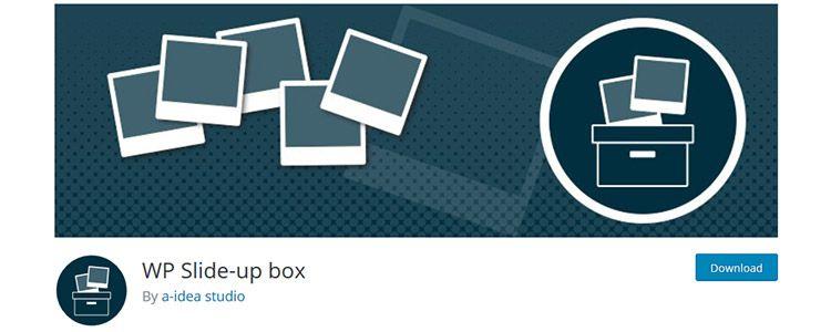 WP Slide-up box