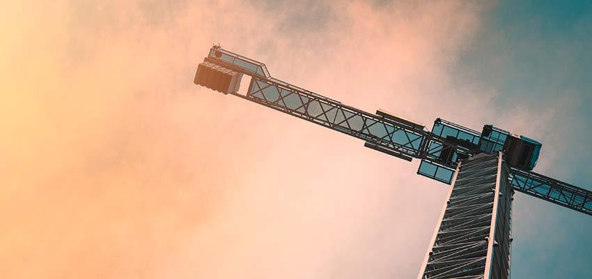 A construction crane.