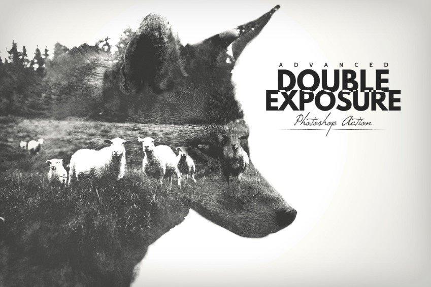 Advanced Double Exposure Photoshop Action