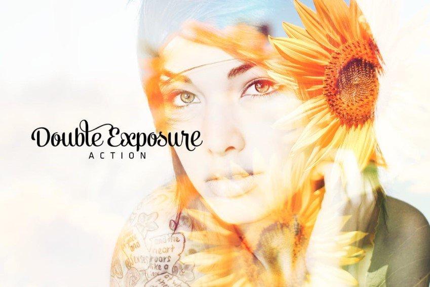 Four Double Exposure Photoshop Actions