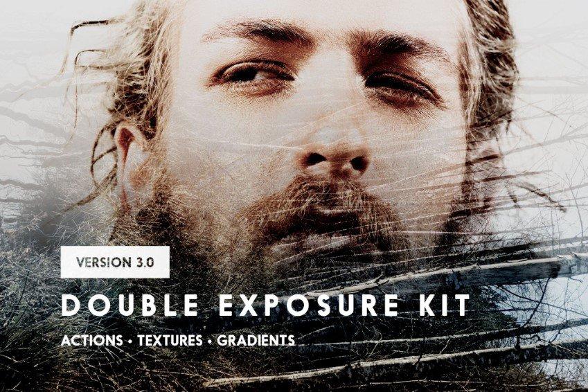 Double Exposure Photoshop Action Kit