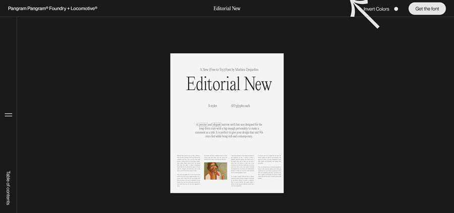 Editorial New Sticky Vertical Navigation Web Design Inspiration